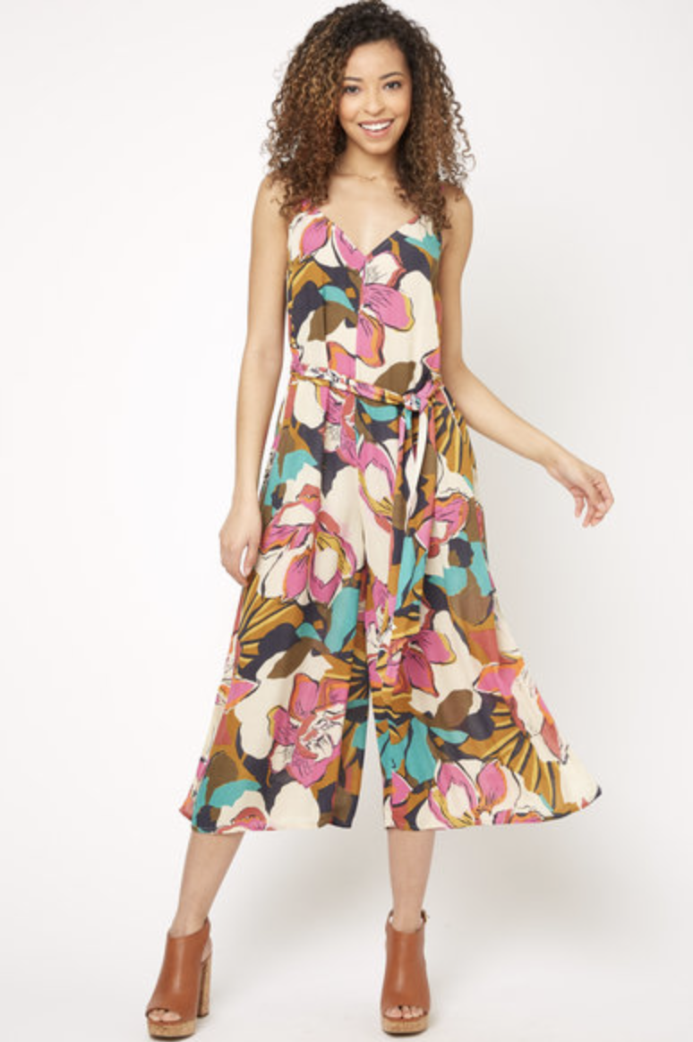 Photo courtesy of southmoonunder.com   Billabong Exploded Floral Jumpsuit - $59.95
