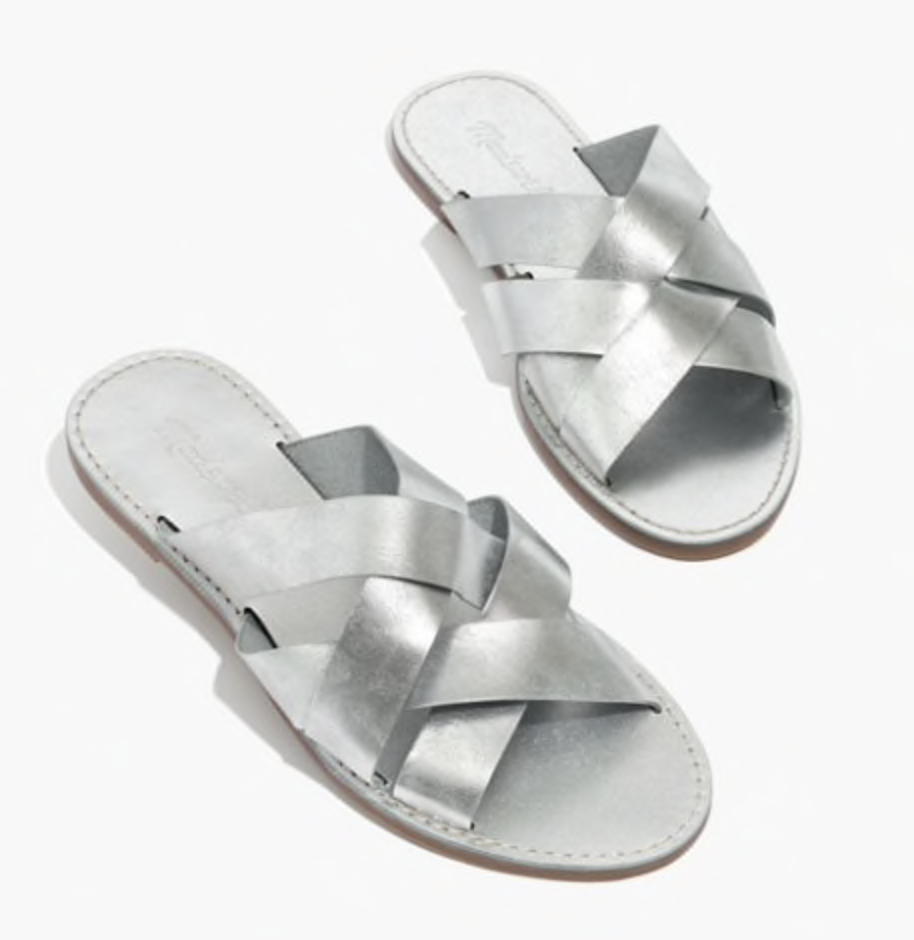 Photo courtesy of Madewell   Madewell Boardwalk Woven Slide Sandals - $59.50