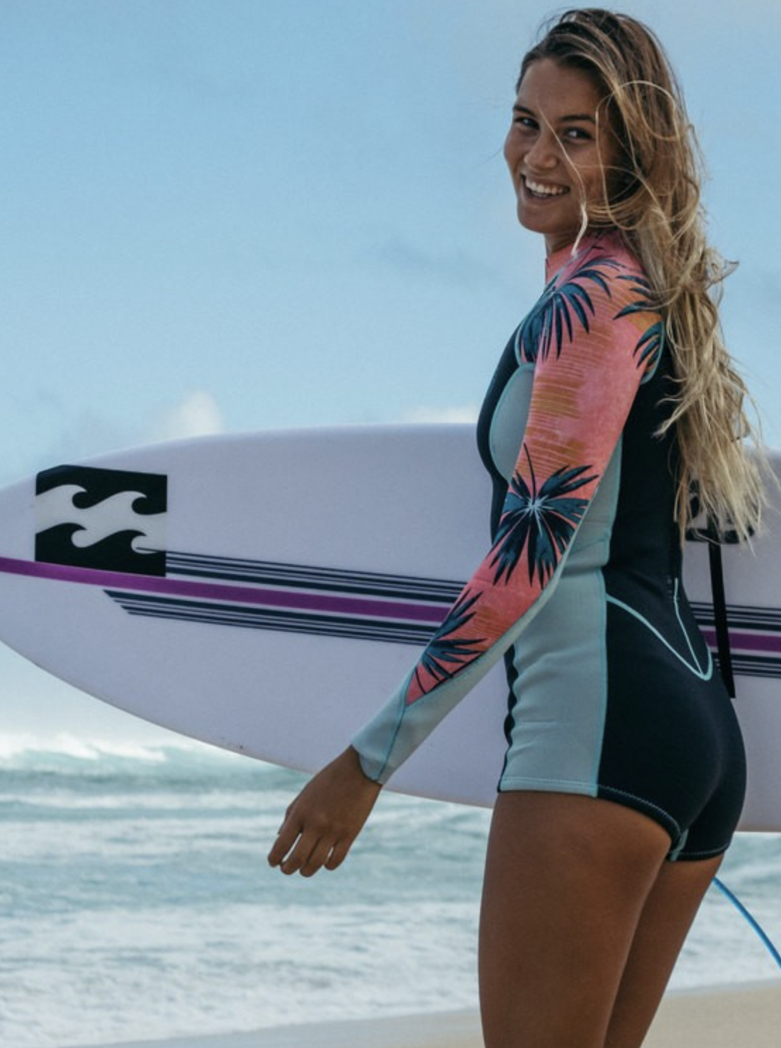 Photo courtesy of Billabong   Billabong Surf Capsule Spring Fever Long Sleeve Springsuit - $119.95