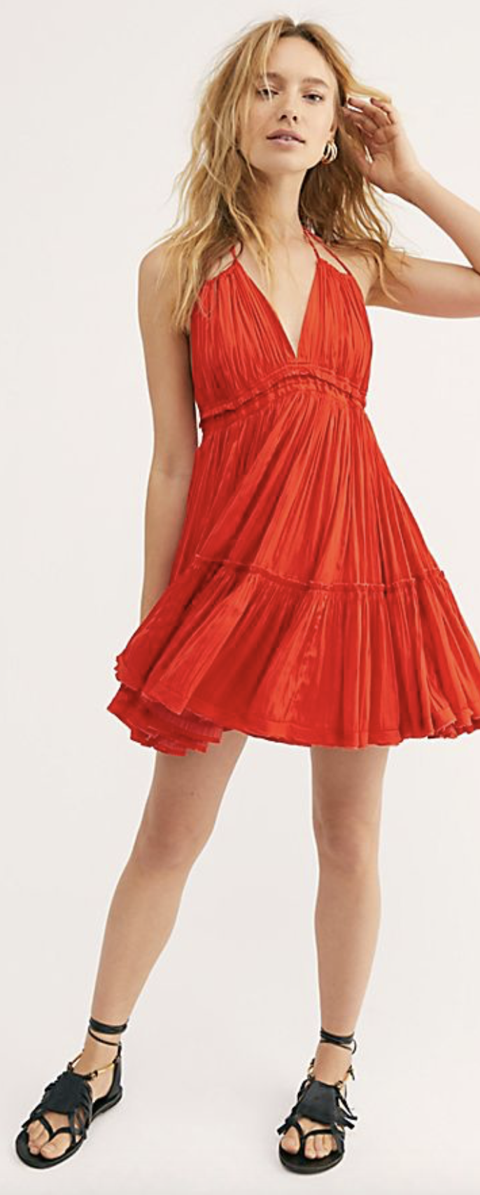 Photo courtesy of Free People.  F ree People 100 Degrees Of Shine Mini Dress - $198