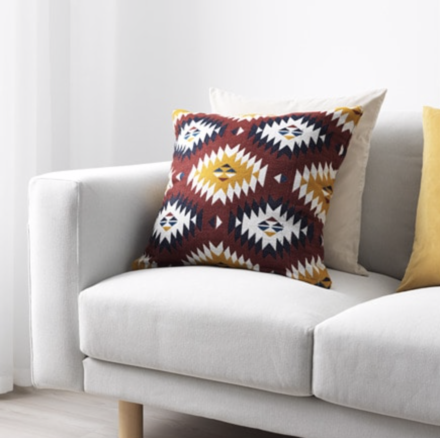 Photo courtesy of IKEA.   IKEA Aztec Print Fransine Cushion Cover - $14.99