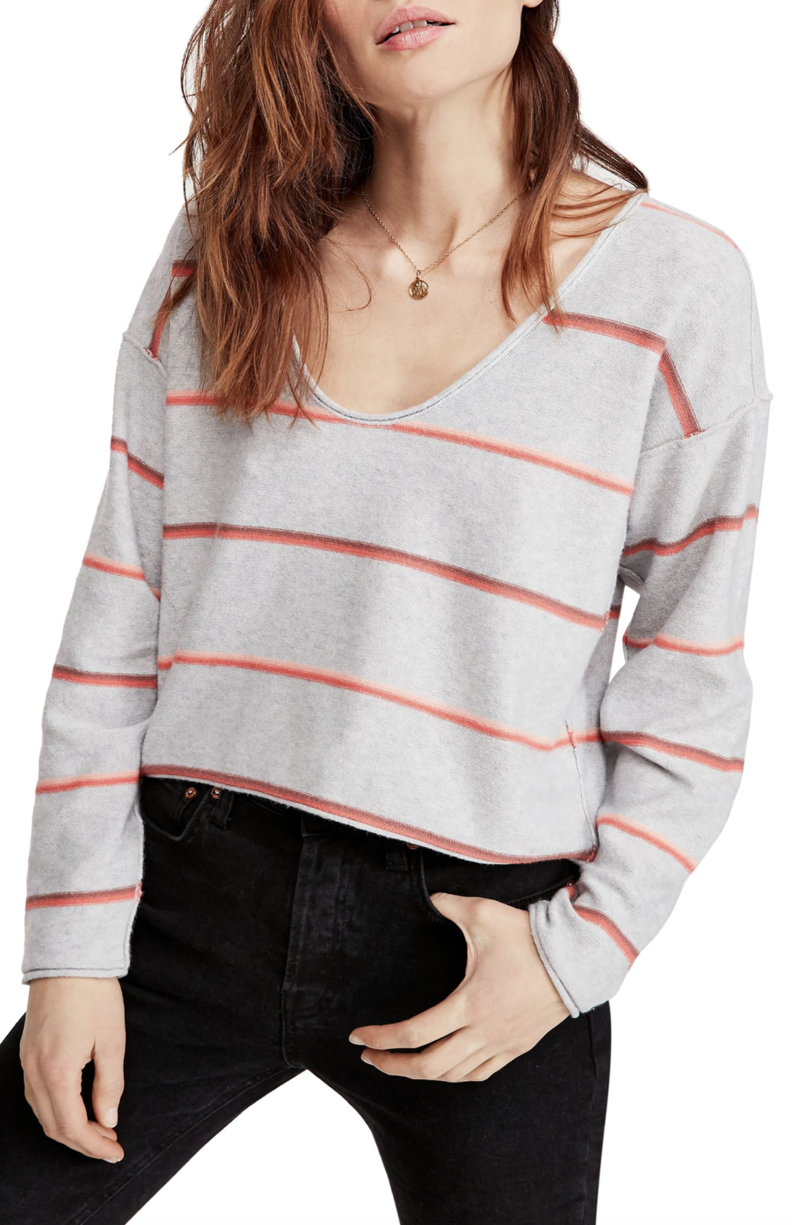 Free People Make You Mine Stripe Sweater - $84.90