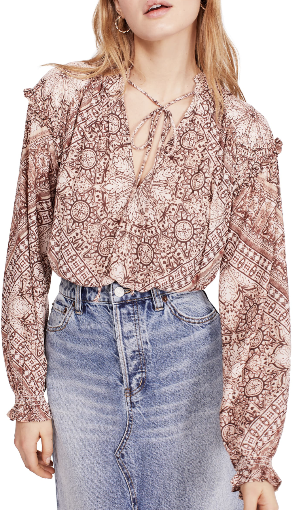 Free People Little Runaway Blouse - $64.90