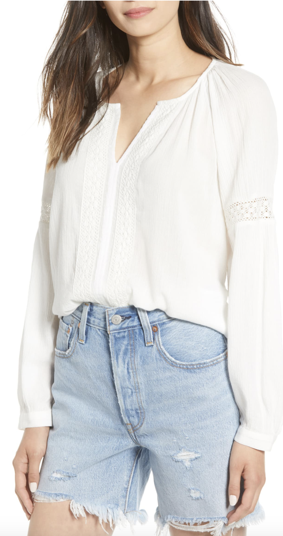 Hinge Embroidered Blouse - $45.90