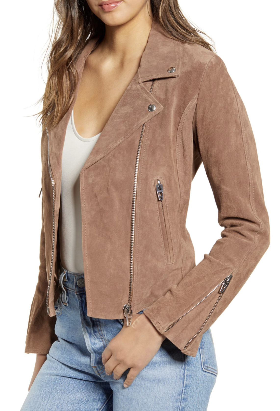 BLANKNYC Next Level Suede Moto Jacket - $125.90