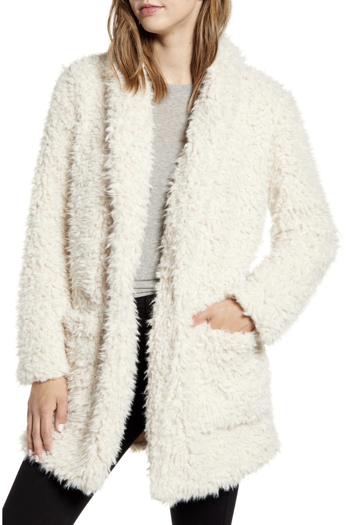 BB Dakota Teddy Faux Sherling Coat - $88.90