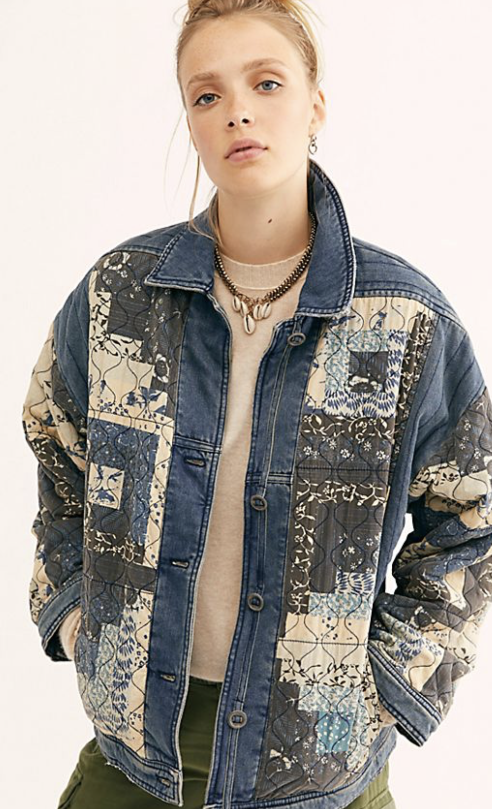 Photo courtesy of Free People   We The Free Pieced Together Jacket - $228