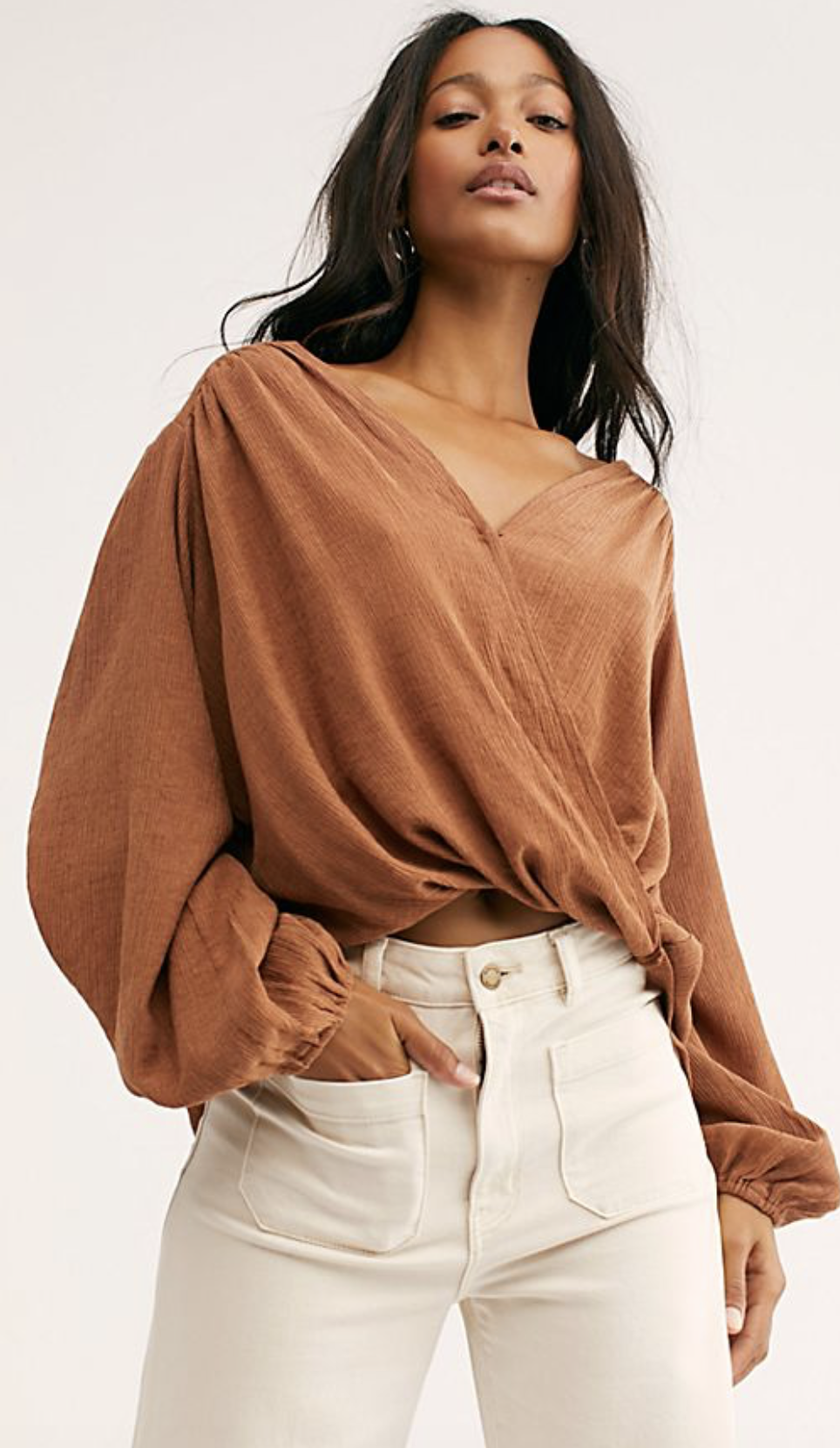 Photo courtesy of Free People.   Free People Check On It Wrap Top - $78