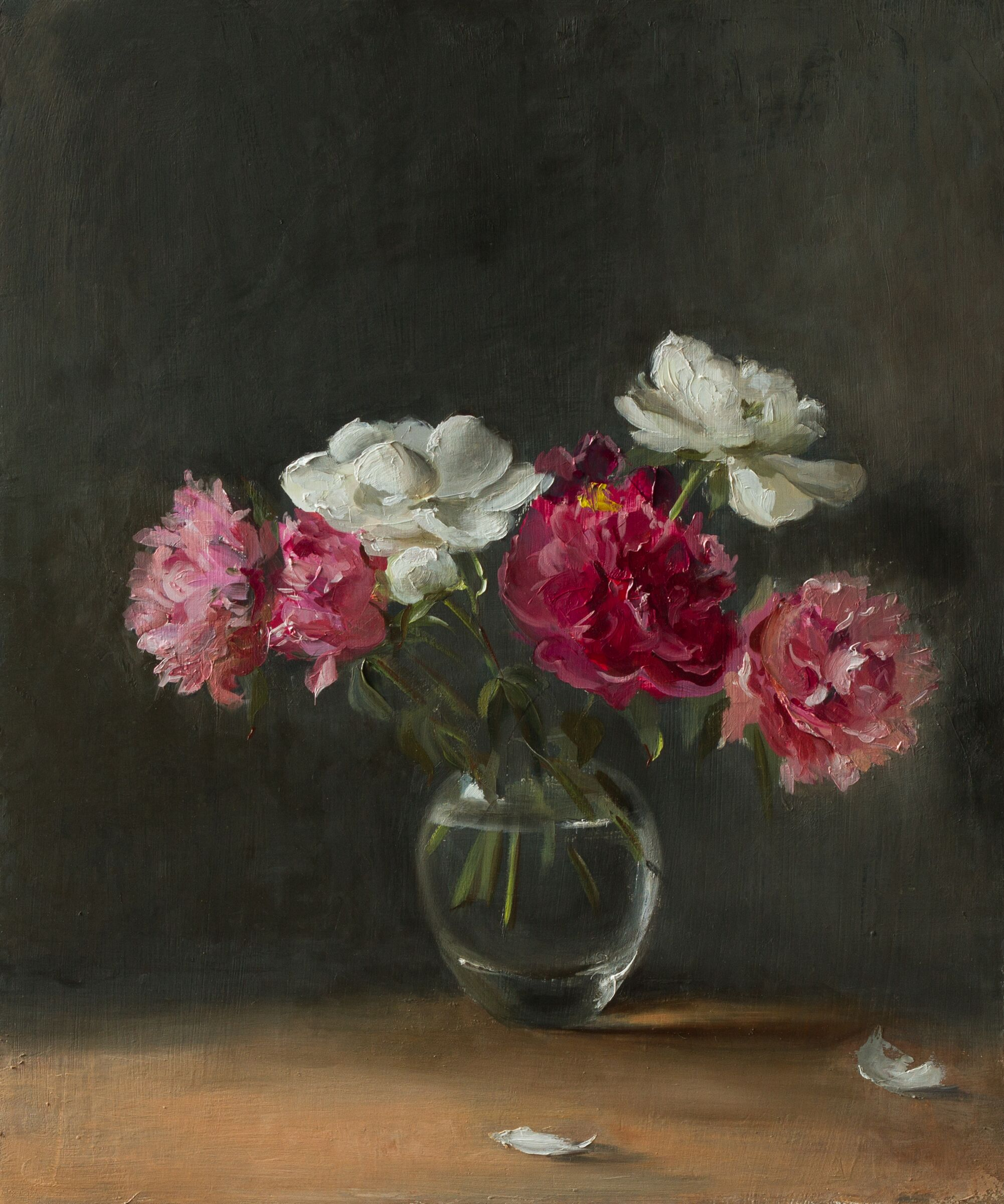 Peonies (white and pink)