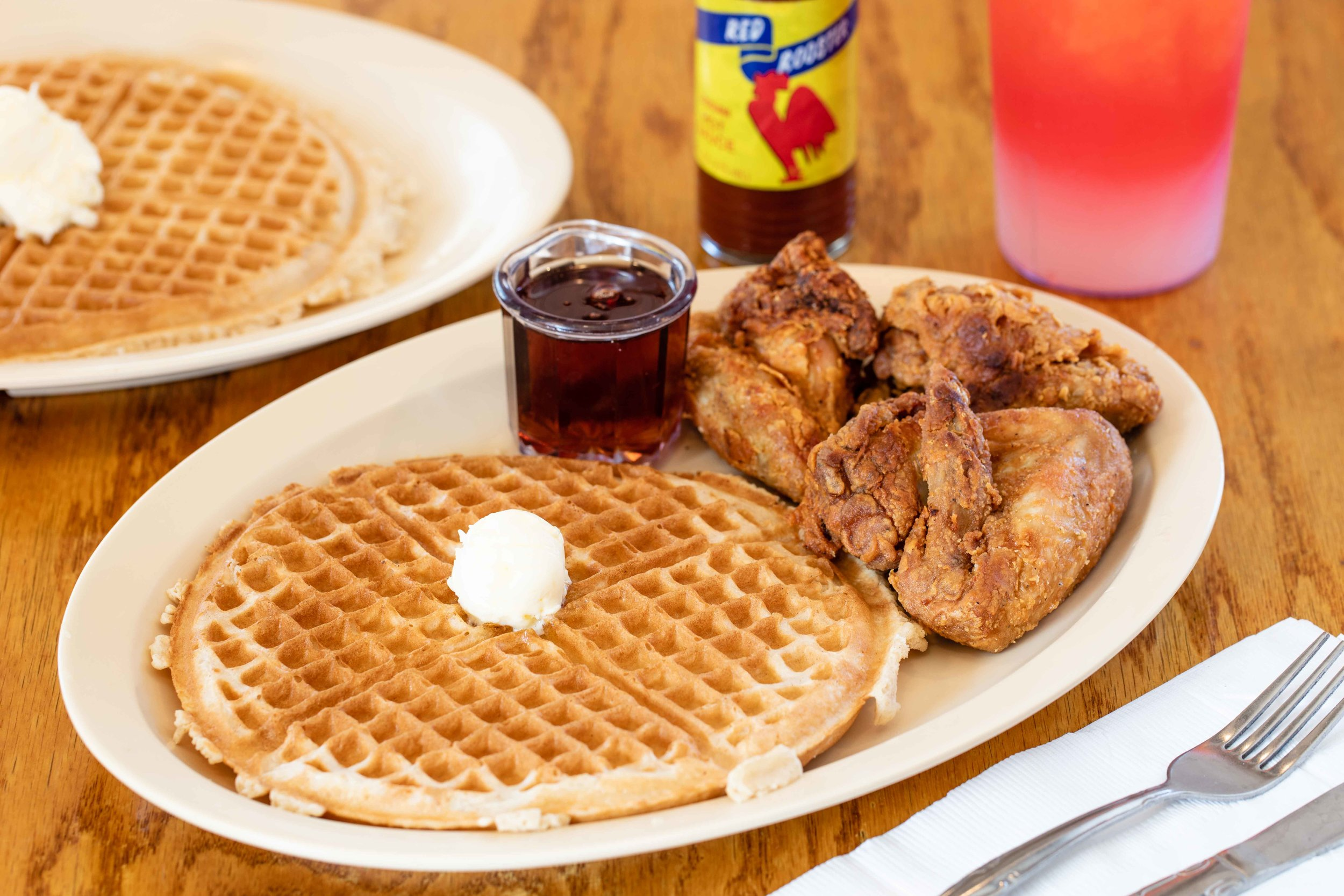 Obama Special with Waffles