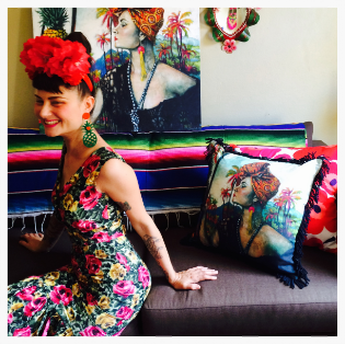 Nikita Margarita of Doodad and Fandango. Background portrait by  Tania Wursig
