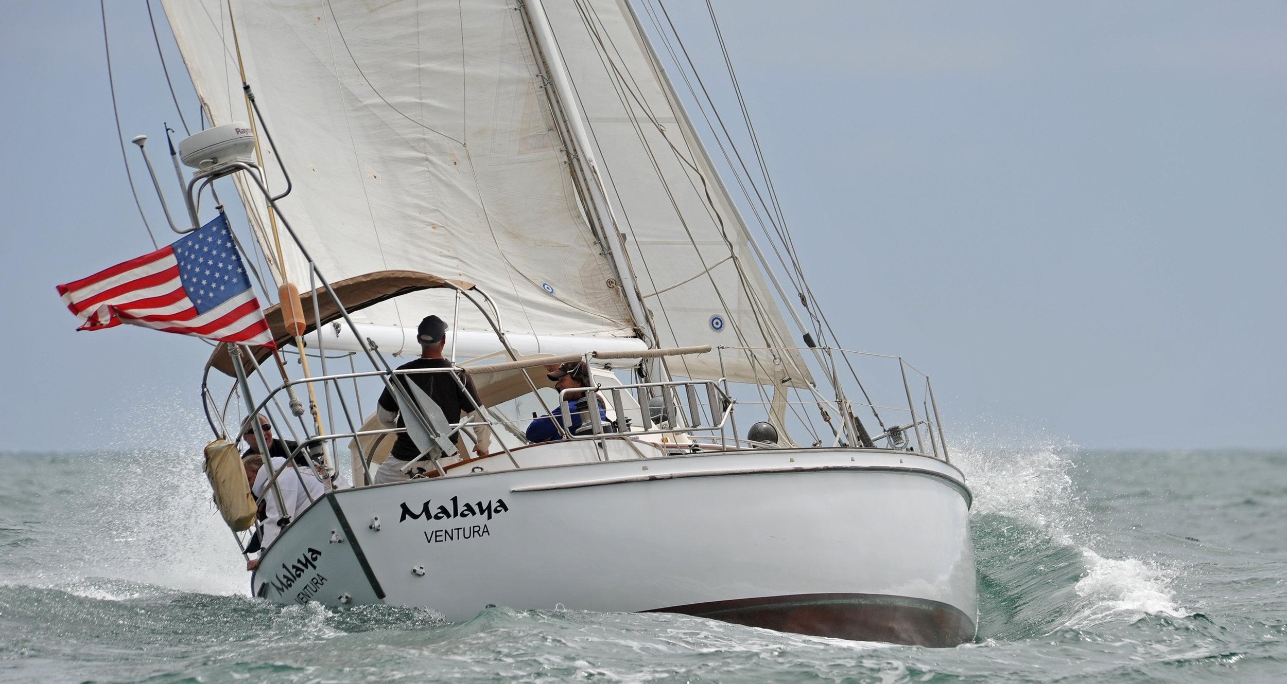 Malaya sailing close hauled