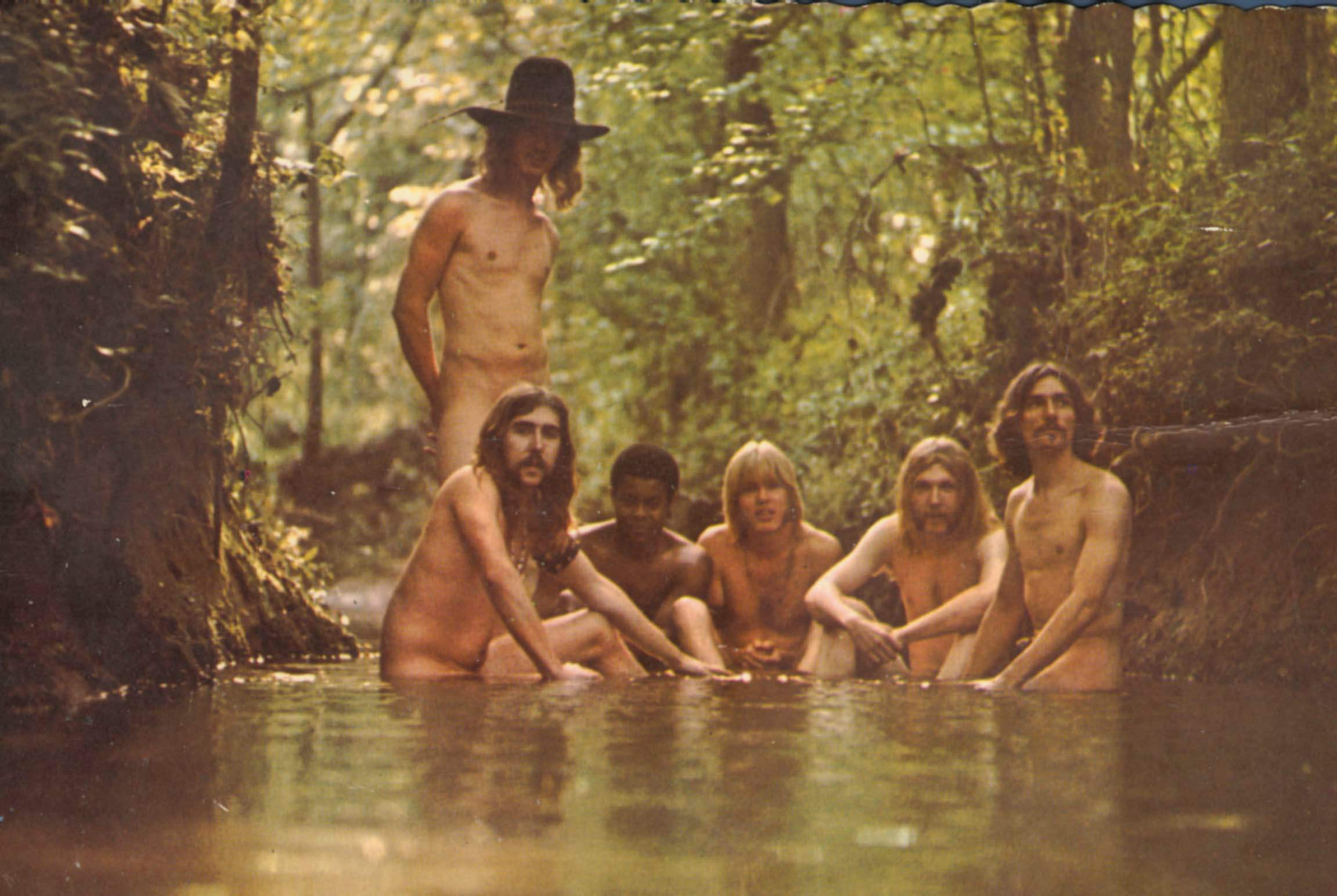 The Allman Brothers, hanging out in a stream. Literally, hanging out. From the album,  Beginnings.