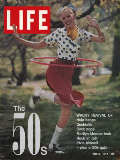 More evidence of the 50s revival in the 70s. This is from June 16, 1972