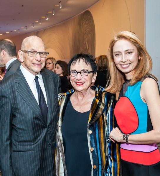 Aaron and Barbara Levine with Hirshhorn Director Melissa Chiu. Photo © Tony Powell,