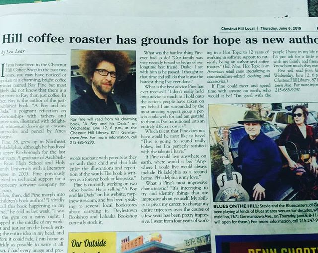 The Chestnut Hill Local did a nice profile on me for their paper this week. I'm humbled more and more each week I live this life. The full article is on their website if you want to check it out!