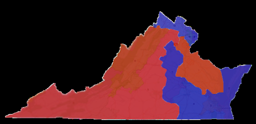 Results of House of Representatives elections in Virginia by party.