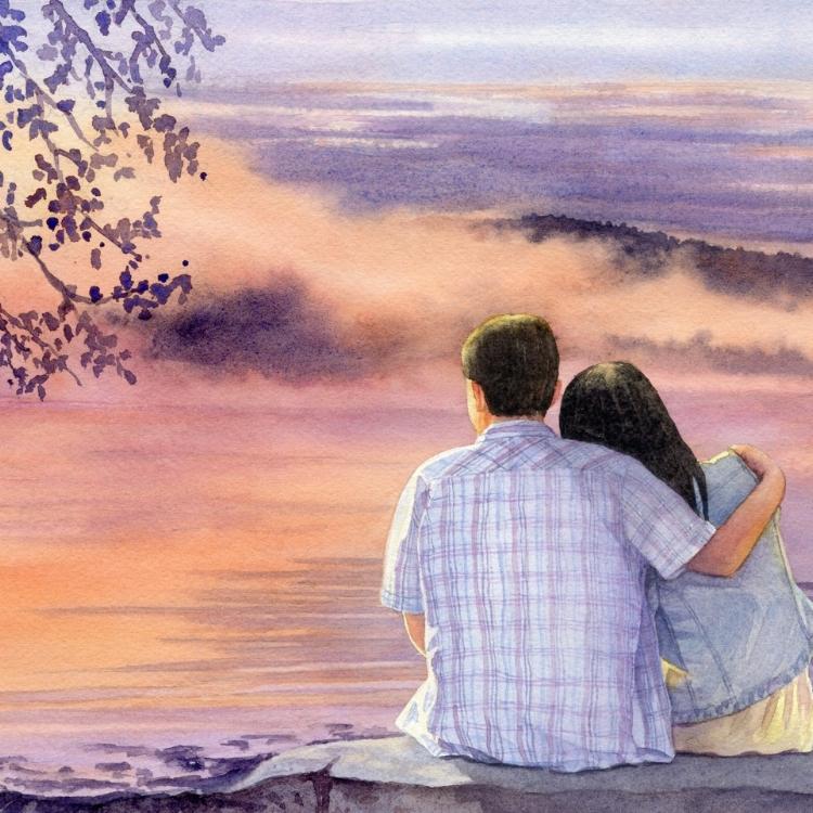 """""""Peace"""" watercolor by Lorraine Watry"""
