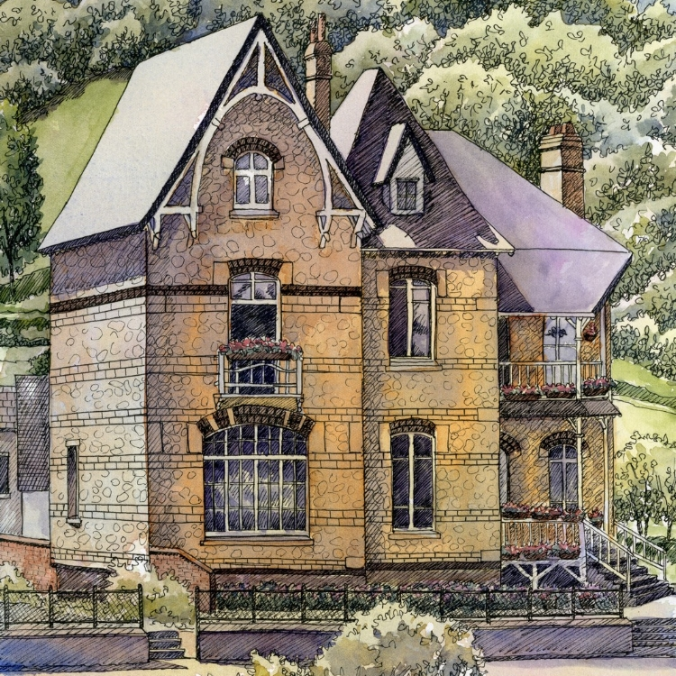 """""""Seine River Beauty"""" watercolor by Lorraine Watry"""