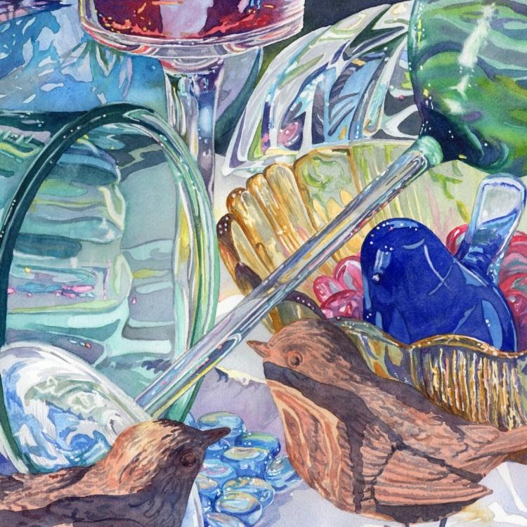 """Glass Menagerie"" watercolor by Lorraine Watry"