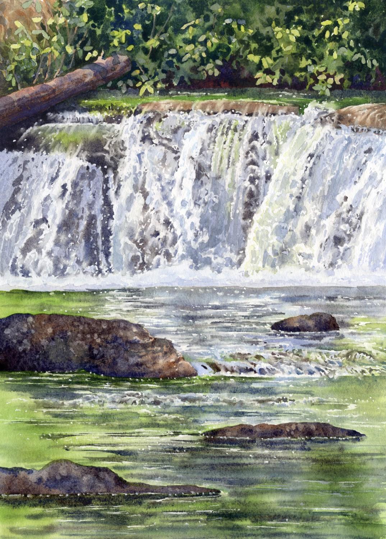 Cascading Falls © Lorraine Watry