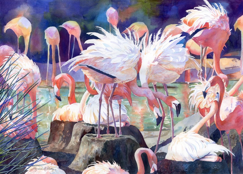 Flamingo Dance © Lorraine Watry