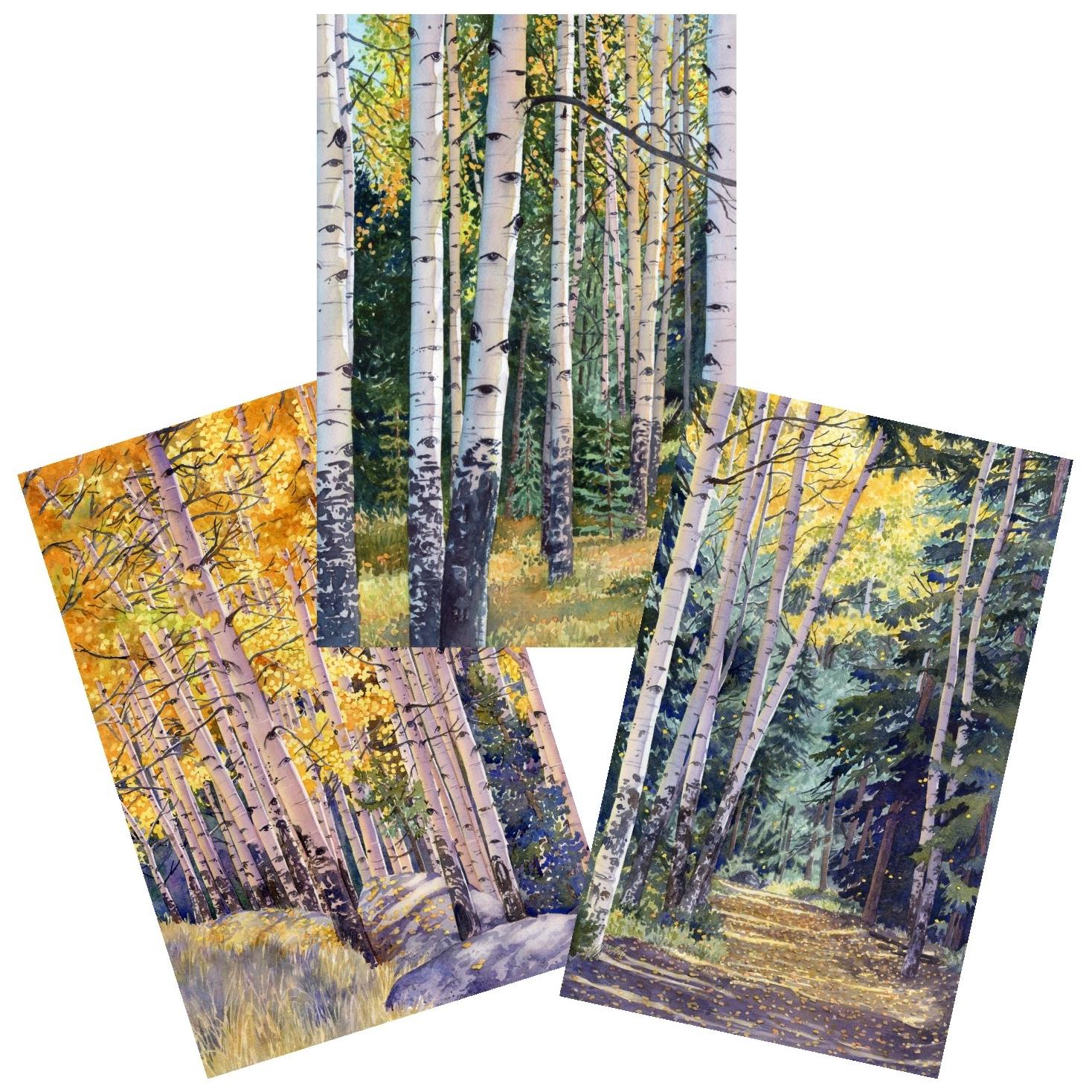 blank-note-cards-aspen-trees-lorraine-watry