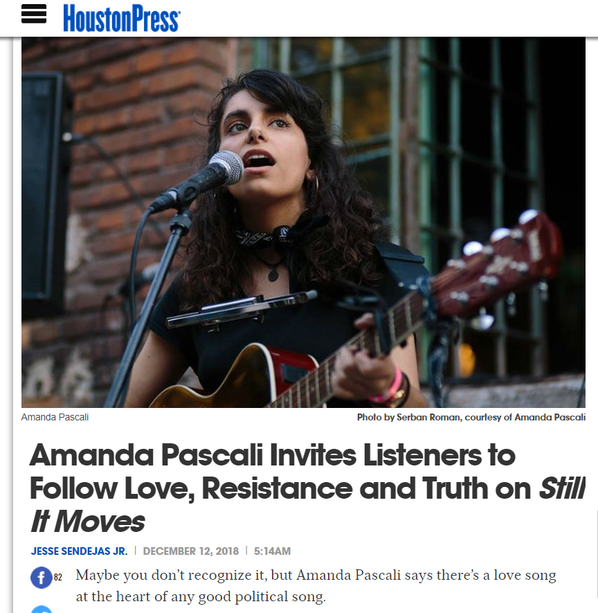 "Click here to read the up close and personal write up by the Houston Press on the new ""Still It Moves"" record and the story behind Amanda's debut, full-length concept album."