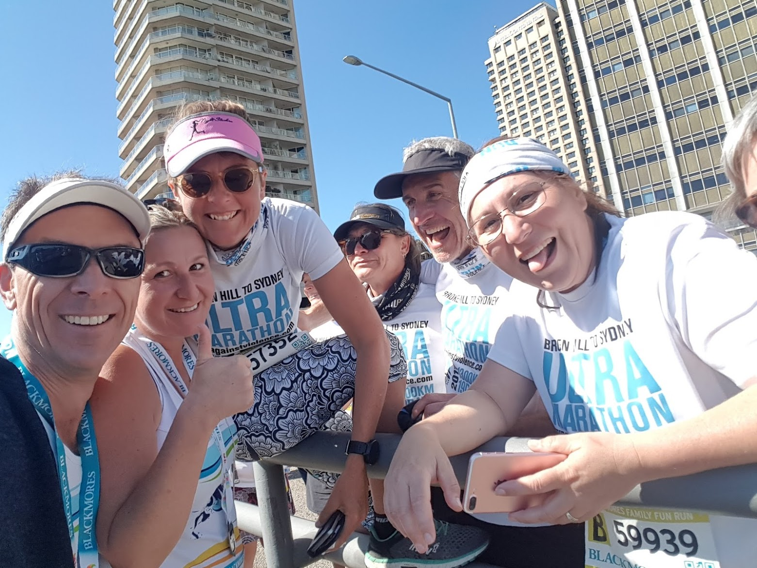 Chris & Kylie Brown from Port Patios meeting Kirrily Dear and the Run Against Violence support team.