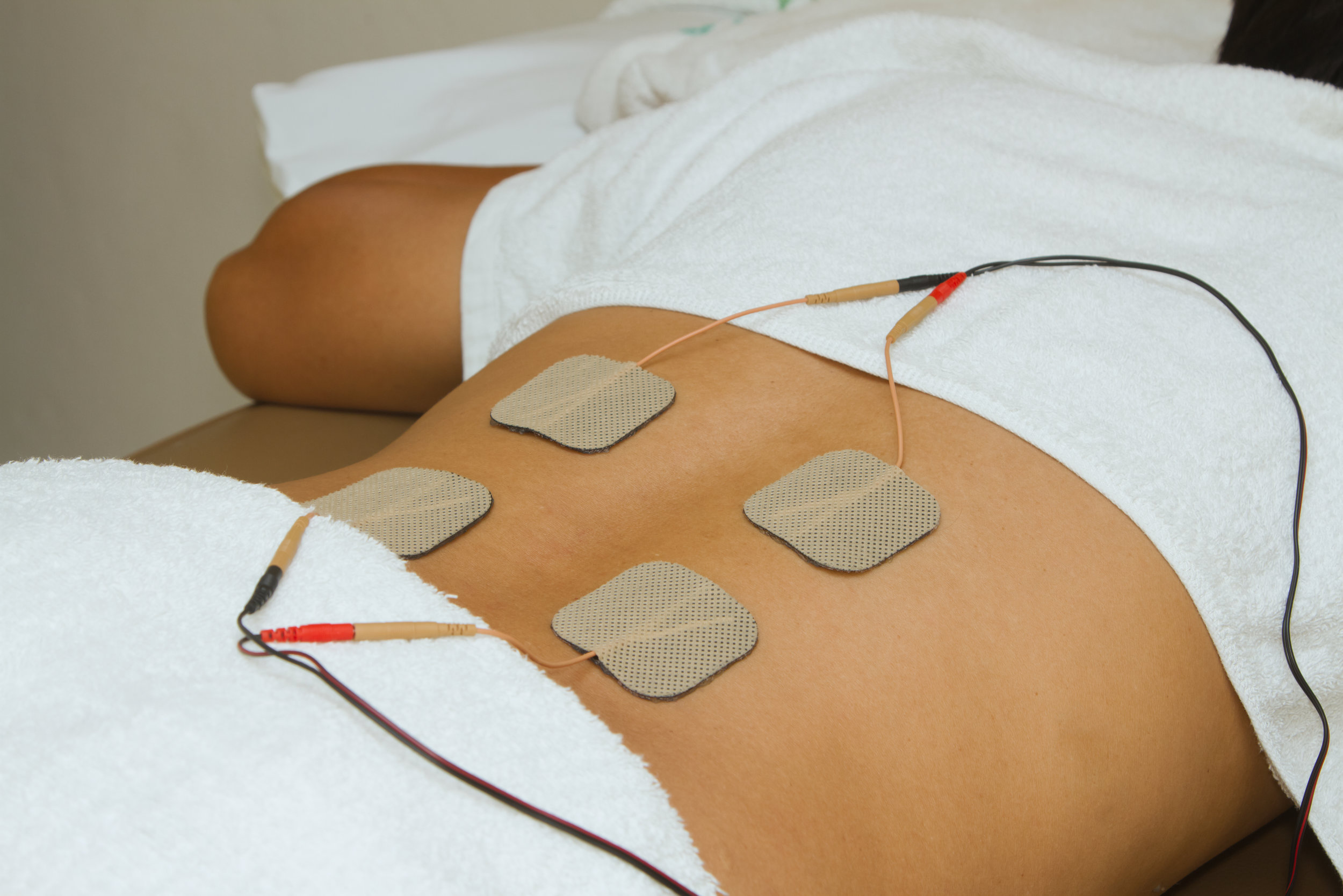 Electric Stim - Electric stimulation rehabilitates the muscles by helping them contract and relax at specific intervals and intensity.