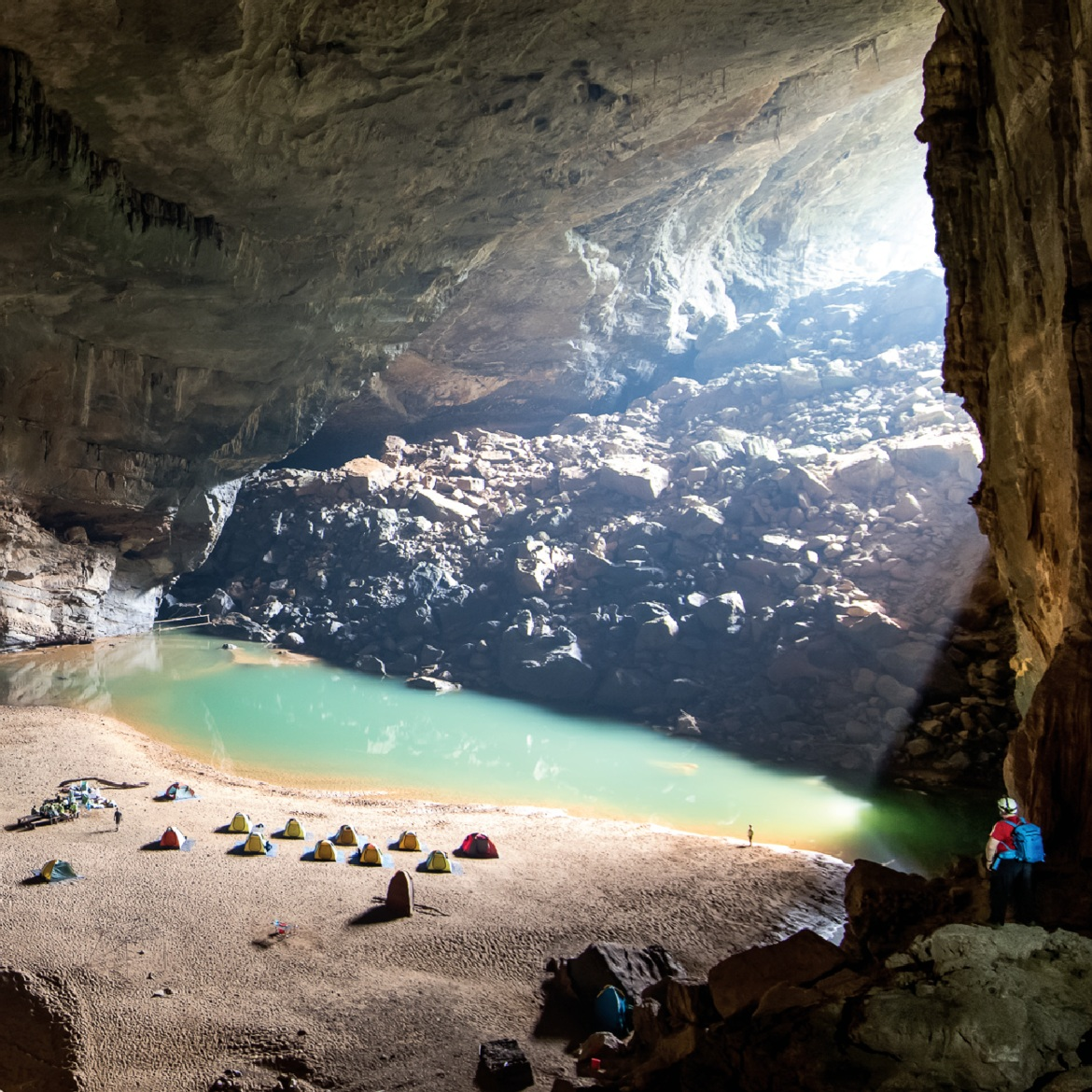 Camp in the world's third largest cave -