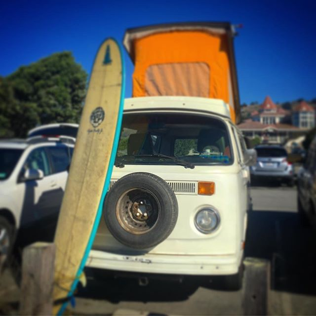 What's less practical than owning a 40+ year old vehicle? Owning two... Aiming to start San Francisco's largest collection of antique vehicles exclusively parked on the street. (Side note: still profoundly bad at surfing)