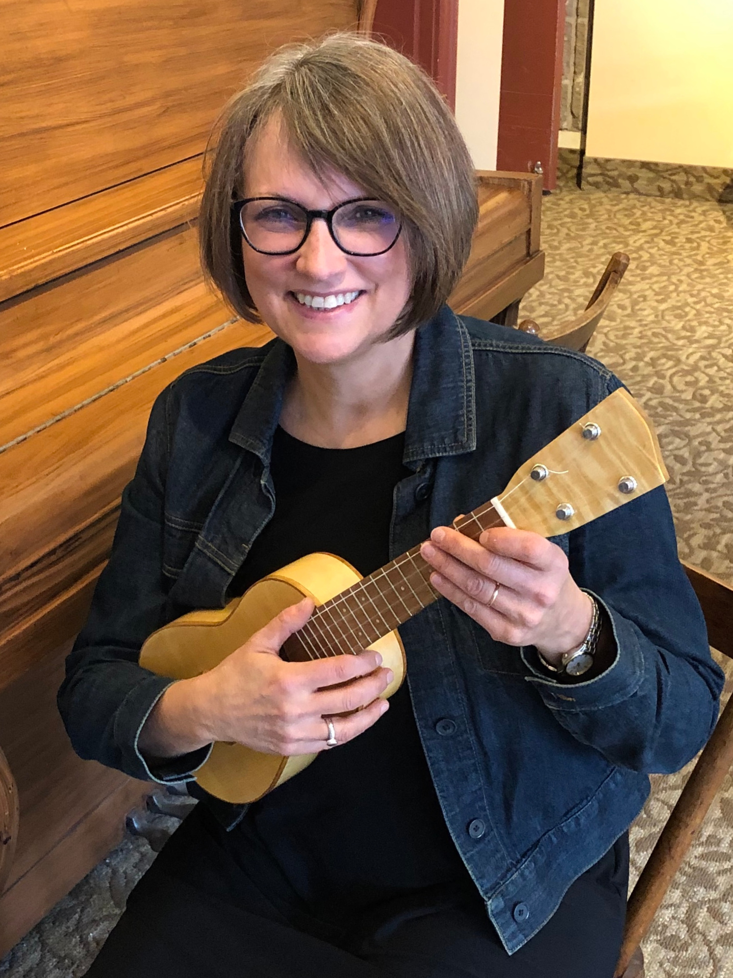 """Learning the ukulele is the beginning of a wonderous journey!"" - - Angela Dwyer"