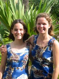 McKnight, left, and  Island Ukuleles  co-director Tina Horwood.