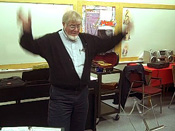 Still got it:  The ever-charismatic Doane conducts a rehearsal in Maitland, NS.