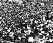 Now that's a ukulele group! Chalmers Doane conducting at the Halifax Metro Centre (c. 1980)