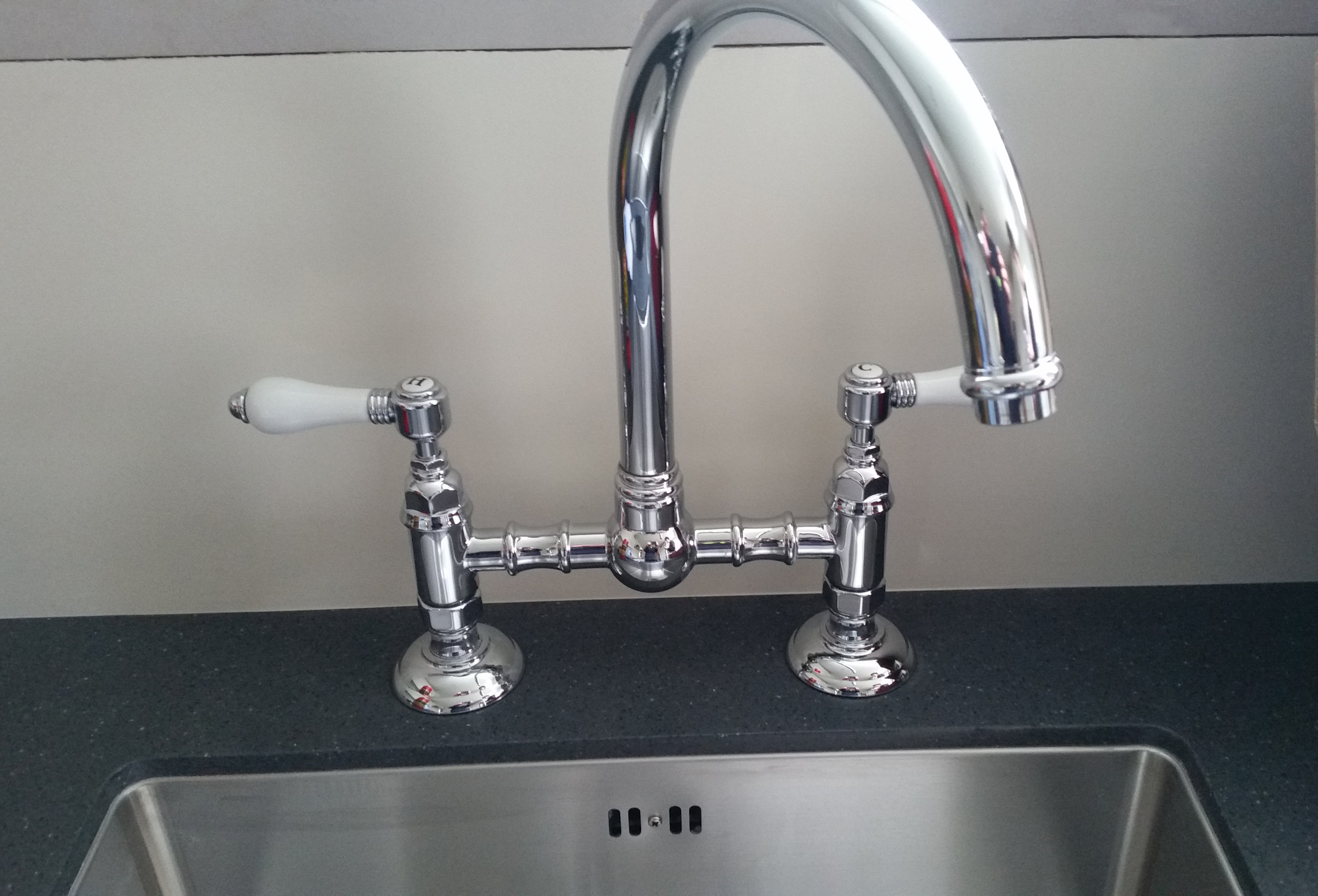 New kitchen tapware installation