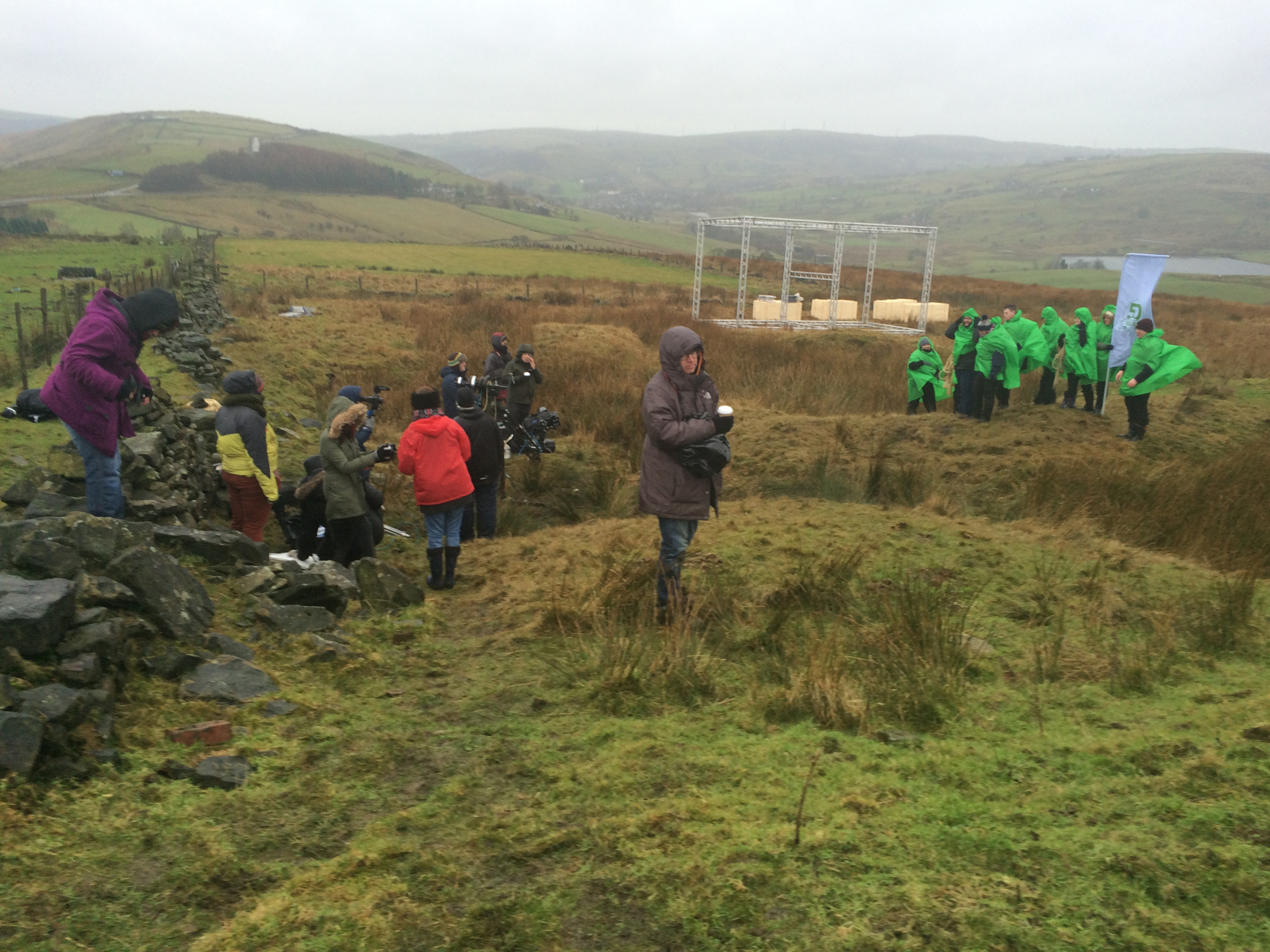 07/01/15 - Waiting for the film crew, as usual - Saddleworth Moor. -