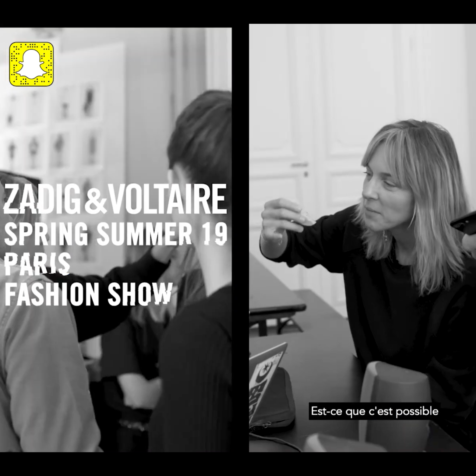 zadig et voltaire snapchat ad - Motion Design