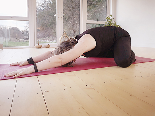 Laura Wynne - Child's Pose at Aruna Yoga, Rathcoffey, Clane, Maynooth, Kilcock, Donadea, Prosperous, Straffan, Sallins