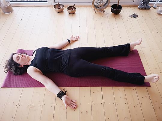 Laura Wynne - Corpse Pose (Shavasana) at Aruna Yoga, Rathcoffey, Clane, Maynooth, Kilcock, Donadea, Prosperous, Straffan, Sallins