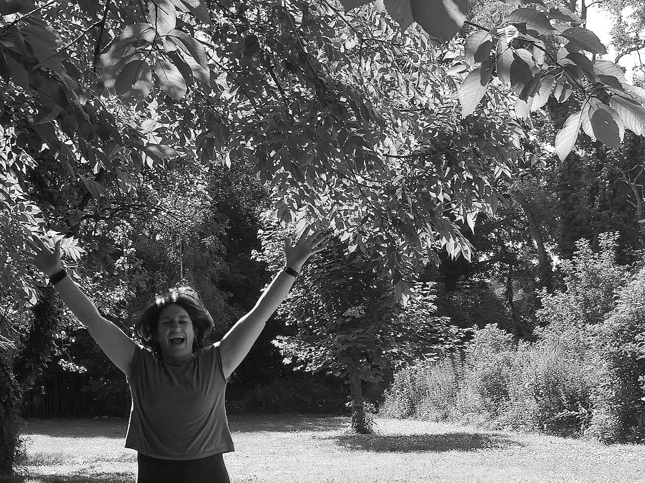 Laura Wynne from Aruna Yoga Jumping for Joy