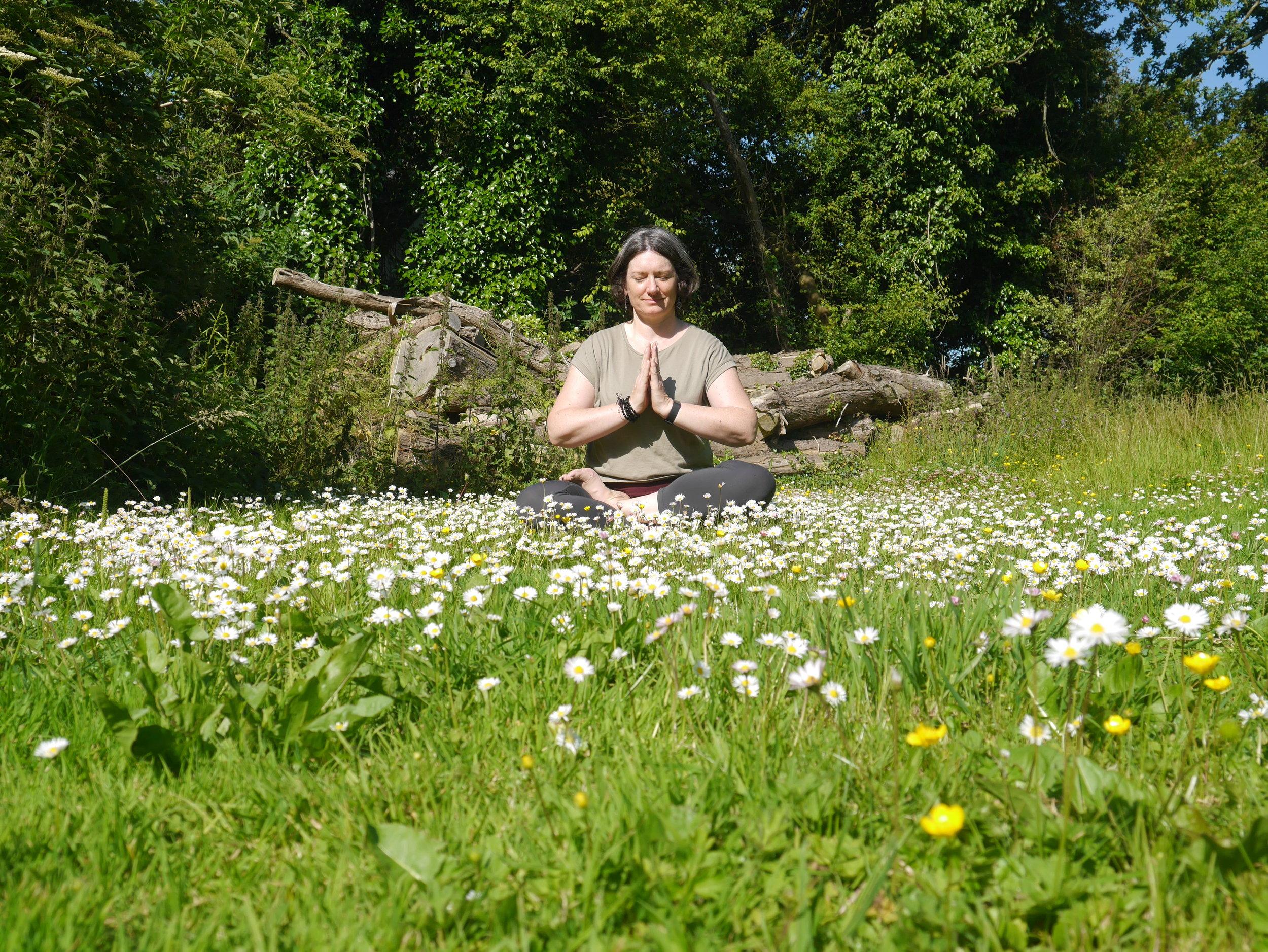 Aruna Yoga Studio - Laura Wynne taking a moment off the treadmill