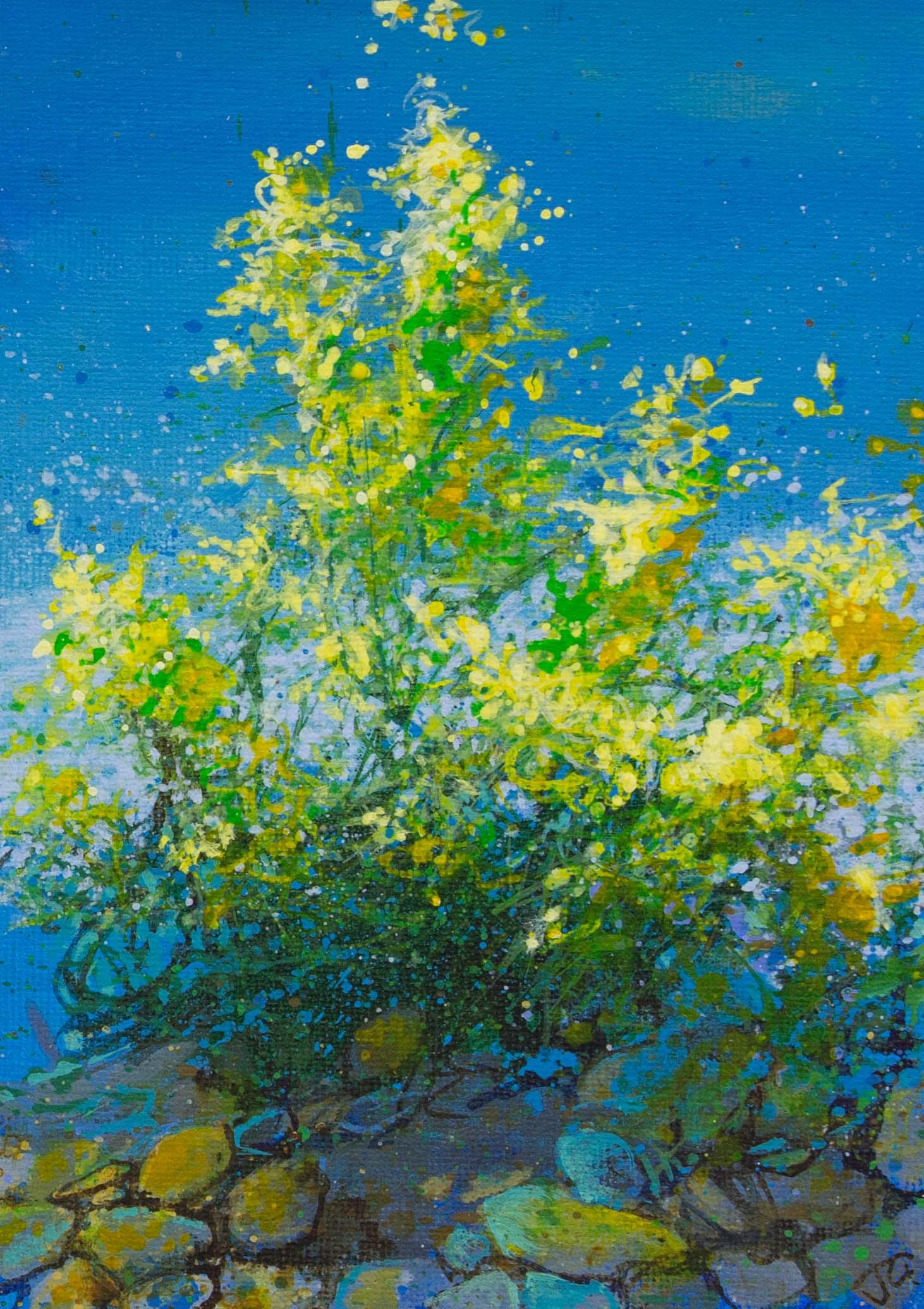 Blue & gold summer days 32x26cm.jpg