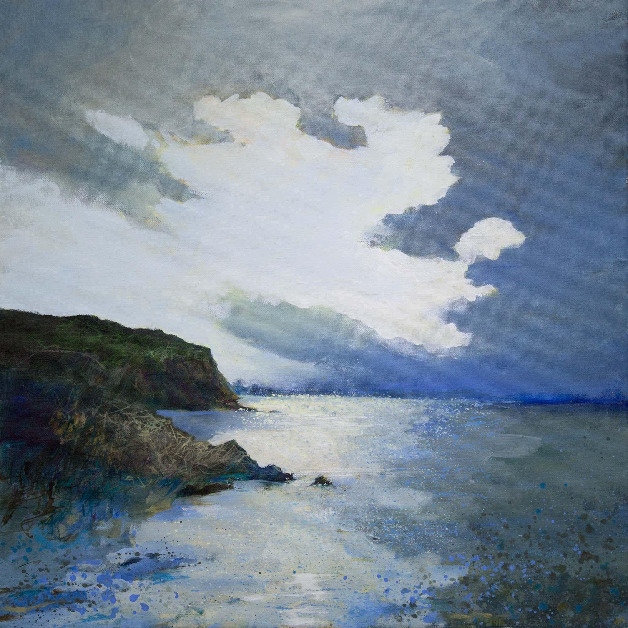 Evening at Sherkin North Shore 64x64cm.jpg