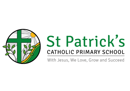 St Patrick's Catholic School logo | school branding | UK School brand agency