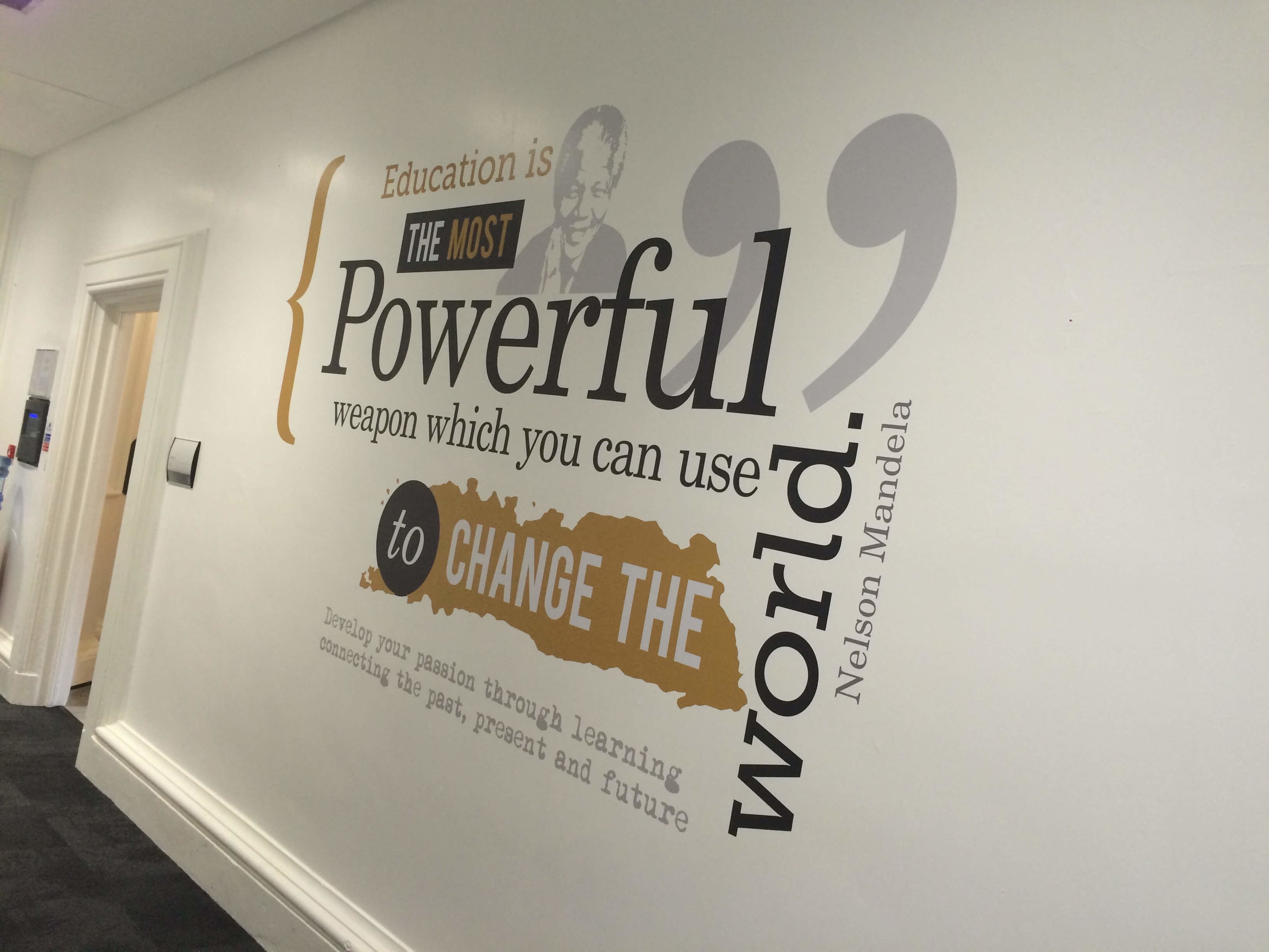 School wall graphics | Inspirational wall quotes | School wall art