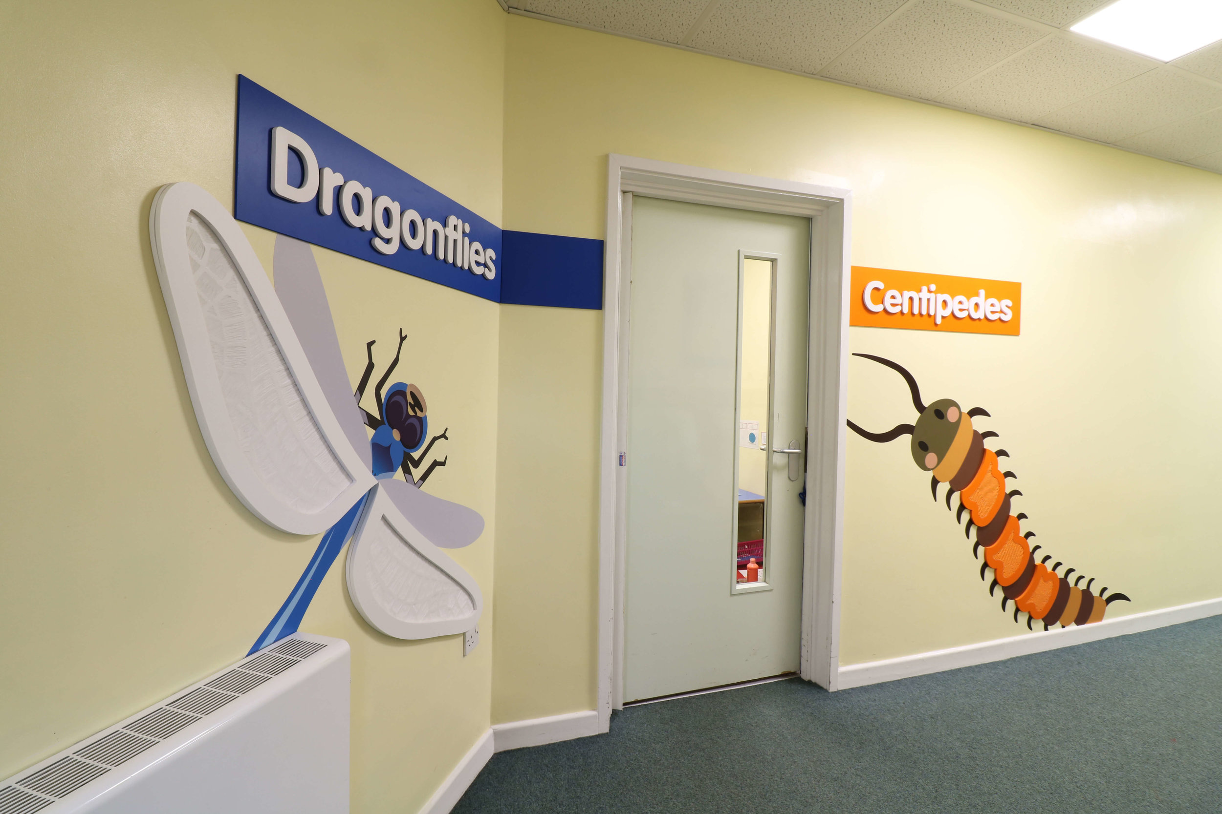 School department graphics | Tactile wall display | Special school wall designs