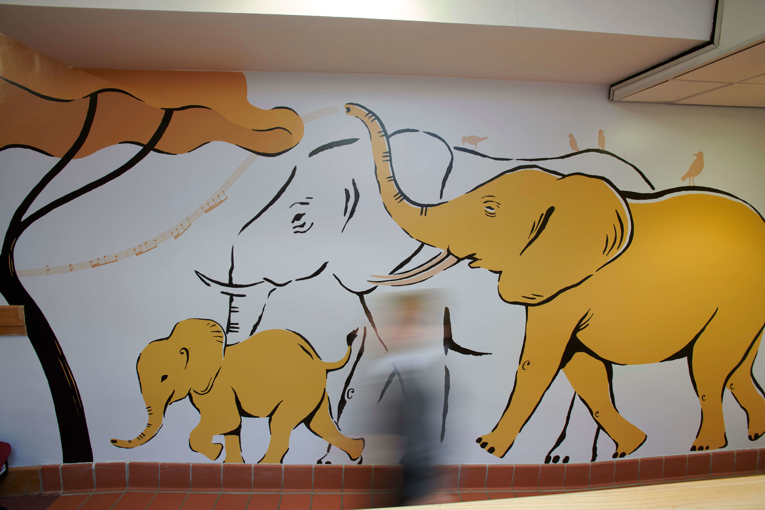 Carnival of the Animals wall graphic | School wall graphic