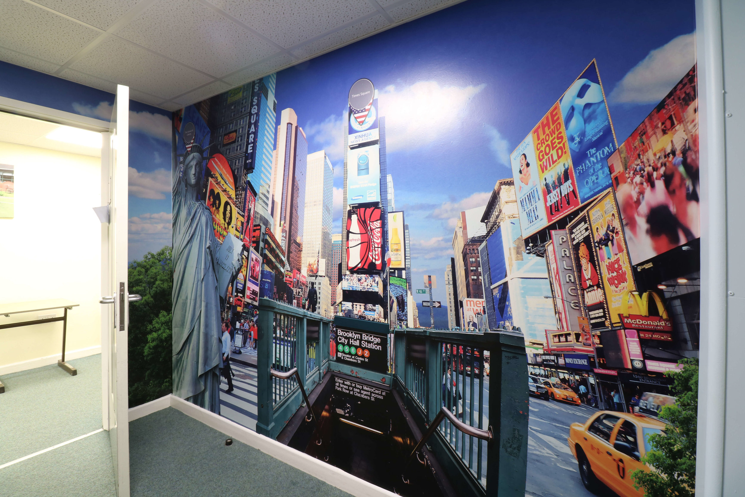 New York wall graphic | School wall graphic